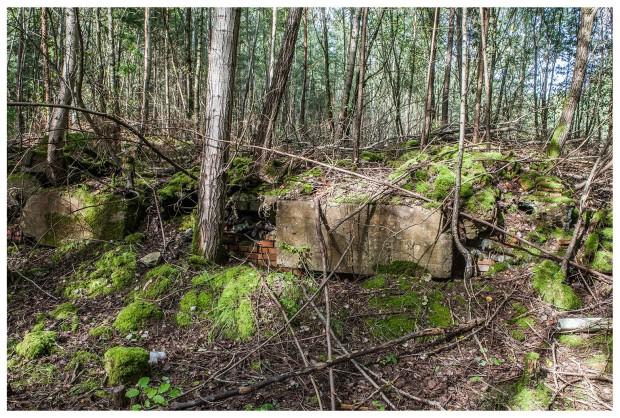 Möglicherweise Fundamente und Reste von weiteren Gebäuden von militärischen Bauten unweit des Offizierskasinos.